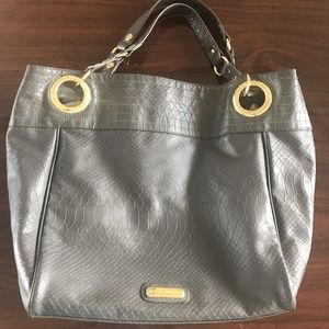STEVE MADDEN Faux Leather Croc Style Large Tote